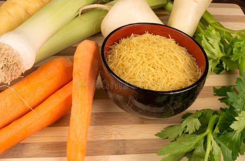 Ингридиенты супа Veggie стоковое изображение