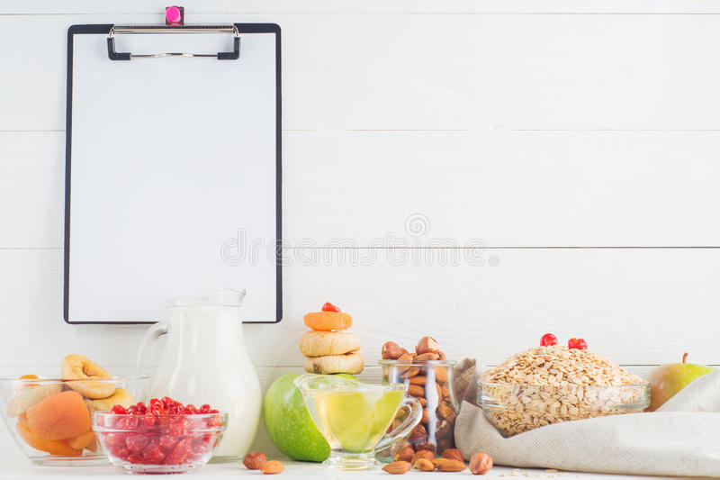 Ингридиенты для здорового завтрака стоковое фото rf