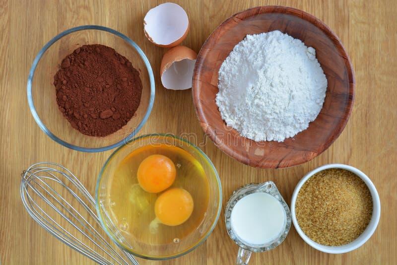 Ингридиенты для торта стоковое изображение