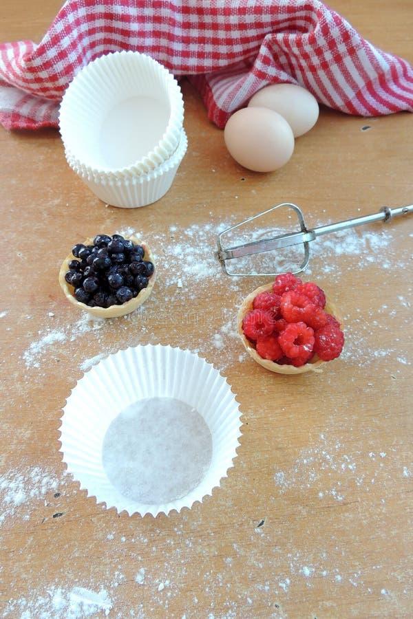 Ингридиент для печь пирожных стоковая фотография rf