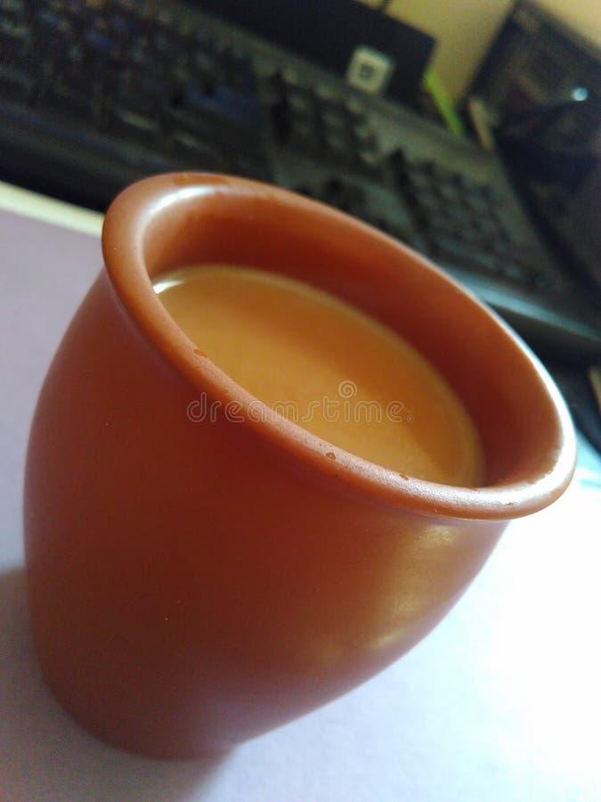 Индеец Chai чая Kullhar стоковые изображения rf