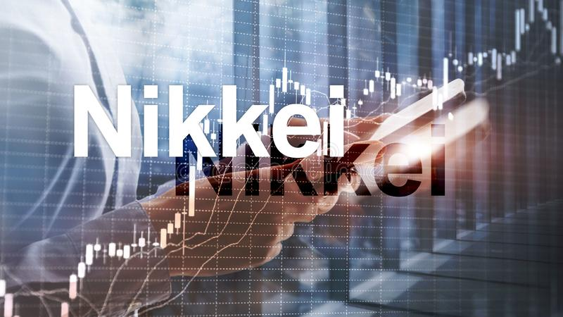 Индекс запаса Nikkei 225 средний Концепция финансового дела экономическая иллюстрация вектора
