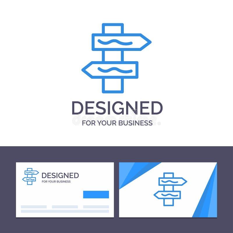 Индекс творческого шаблона визитной карточки и логотипа, навигация, иллюстрация вектора дороги бесплатная иллюстрация