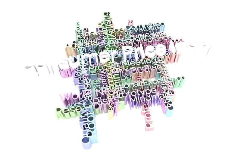 Индекс цен на потребительские товары, ключевое слово дела и слова заволакивают Для интернет-страницы, графического дизайна, текст иллюстрация вектора