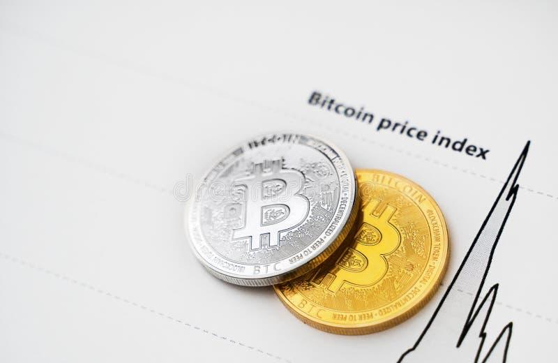Индекс цен Bitcoin стоковая фотография