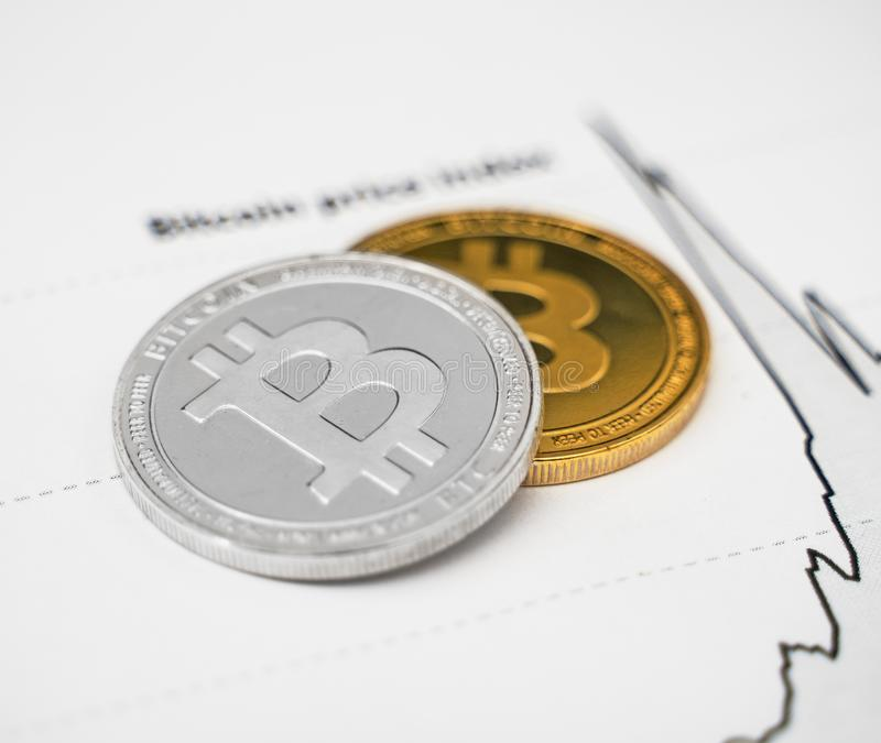 Индекс цен Bitcoin стоковая фотография rf