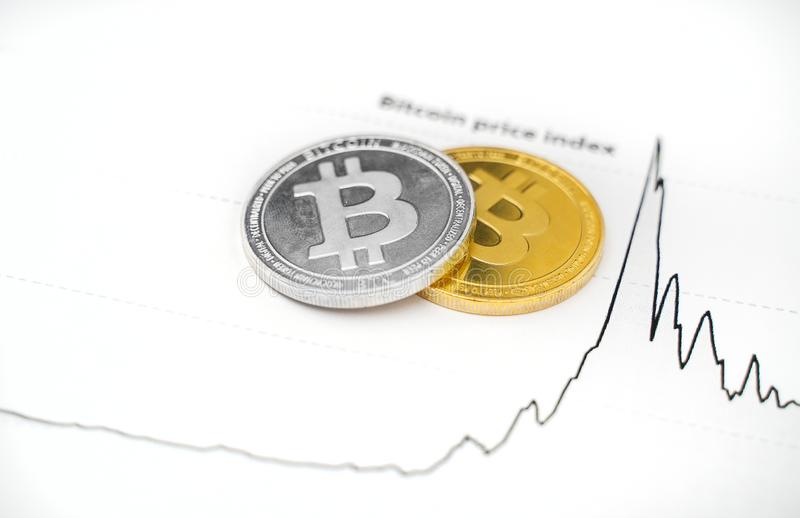 Индекс цен Bitcoin стоковые изображения rf