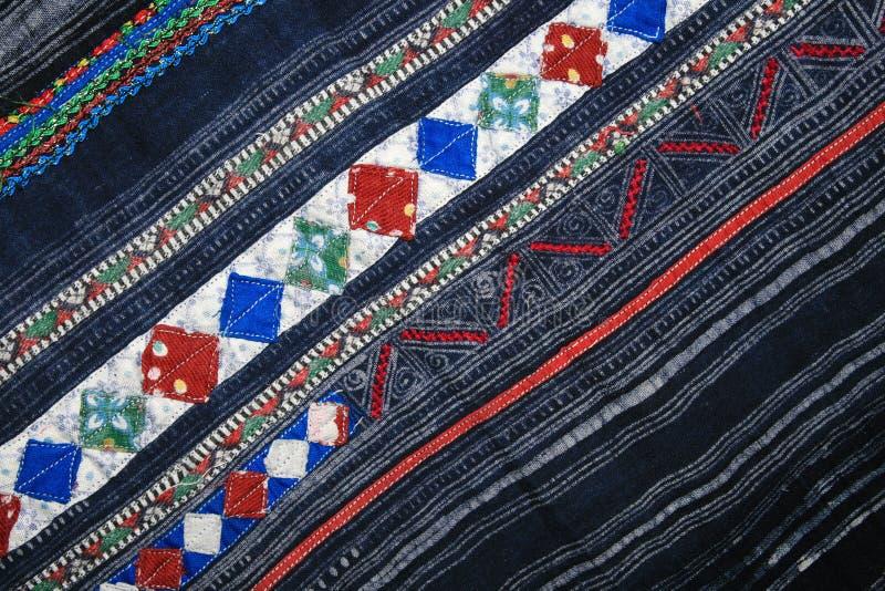индиго ткани батика applique стоковая фотография