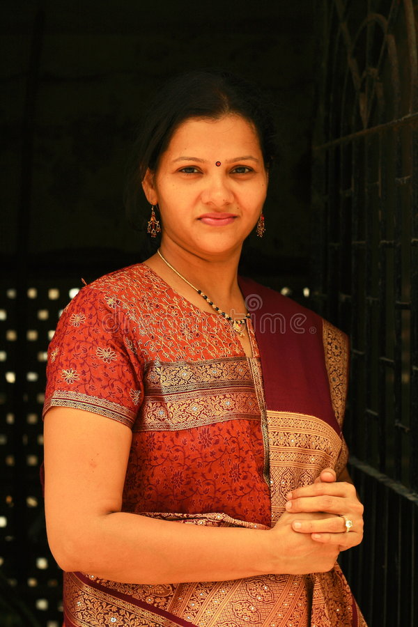 индийская богатая женщина стоковое фото rf