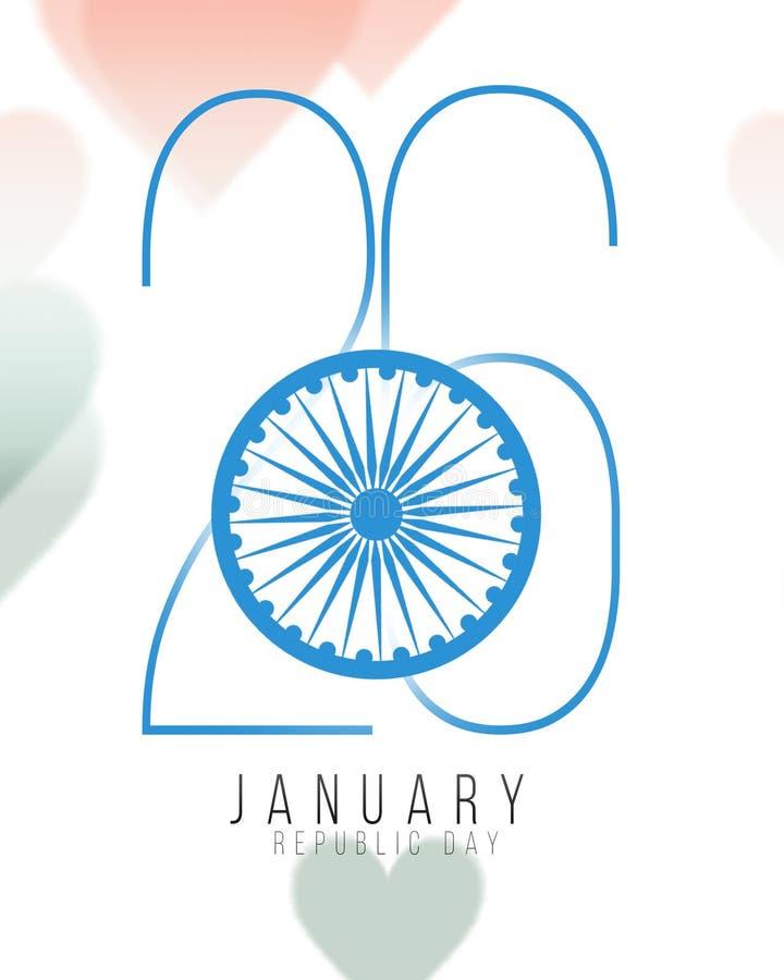 Индийская предпосылка концепции Дня независимости с колесом Ashoka также вектор иллюстрации притяжки corel бесплатная иллюстрация