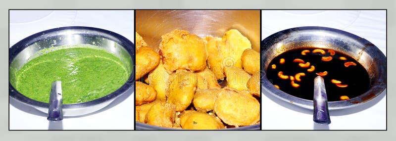 Индийская пряная еда Dal Vada улицы стоковые изображения rf
