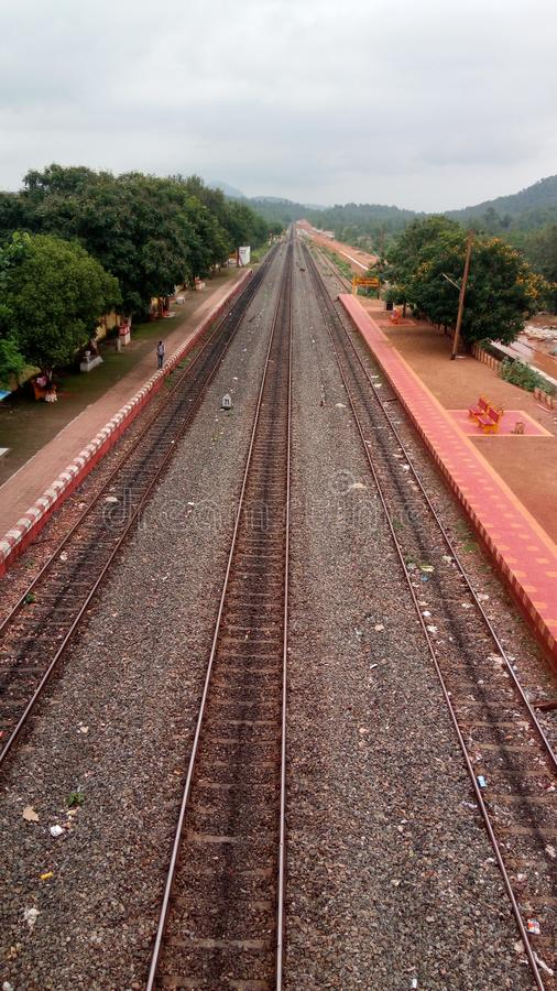 Индийские железные дороги стоковые изображения
