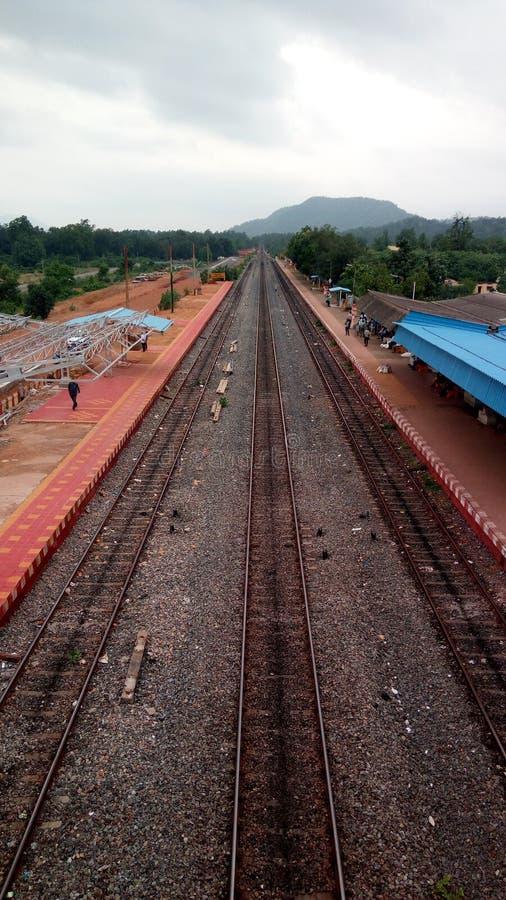 Индийские железные дороги стоковое фото