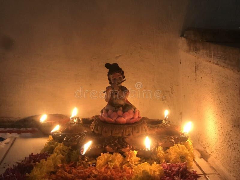 Индийские лампы diwali фестиваля огней стоковые фотографии rf