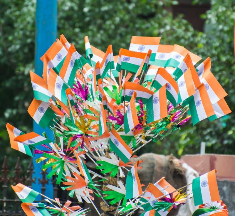 Индийские национальные флаги стоковые фото