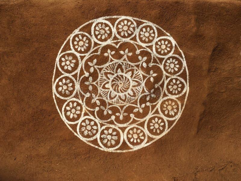 Индийские племенные искусство и чертеж стоковое фото rf