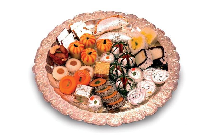 индийские помадки mithai стоковые изображения