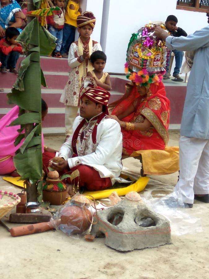 Индийские ритуалы свадьбы стоковое фото rf