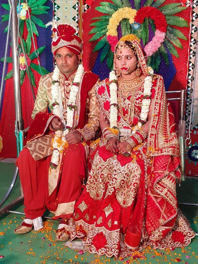 Индийские традиционные изображения свадьбы стоковые фотографии rf