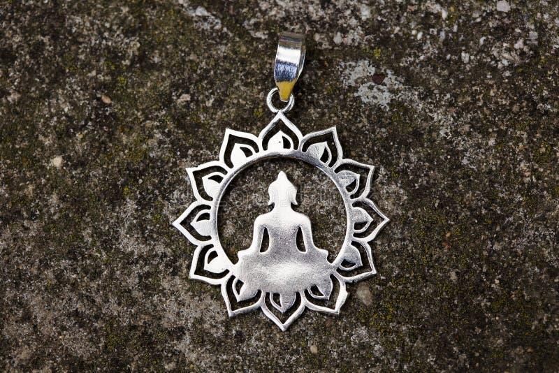 Индийский духовный орнаментальный шкентель серебра стиля стоковые изображения rf
