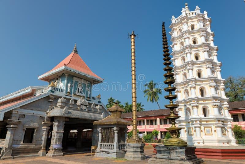 Индийский индусский висок в Ponda, GOA, Индии стоковая фотография