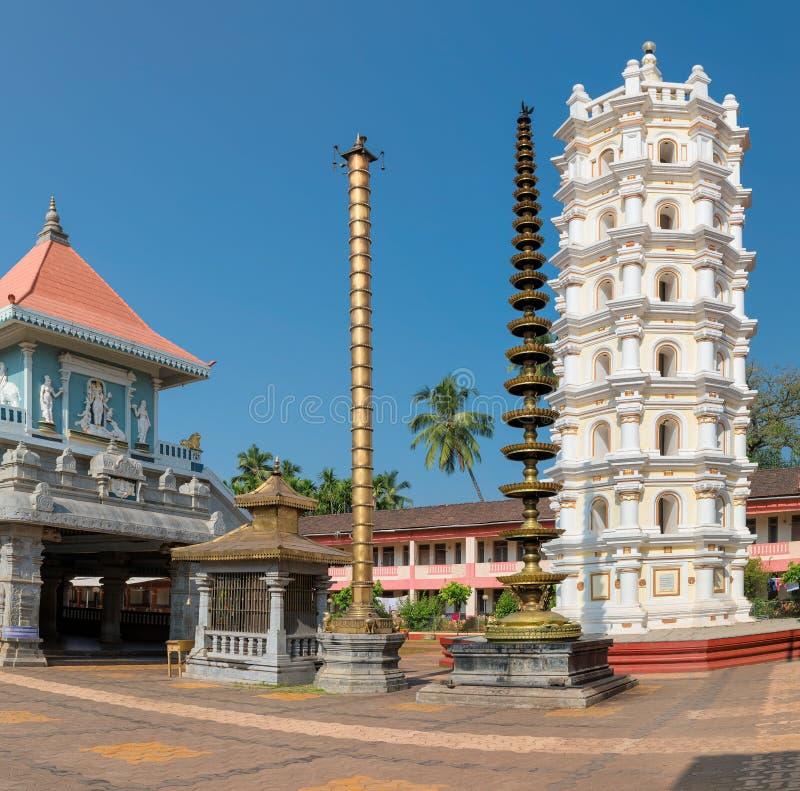 Индийский индусский висок в Ponda, GOA, Индии стоковое изображение rf