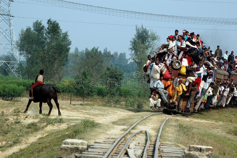 индийский рельс путешествием стоковое изображение