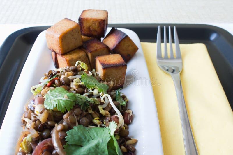 индийский салат чечевицы стоковые изображения