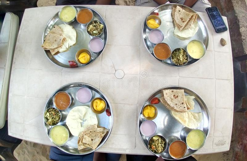 Индийский специальный фотоснимок еды стоковое изображение