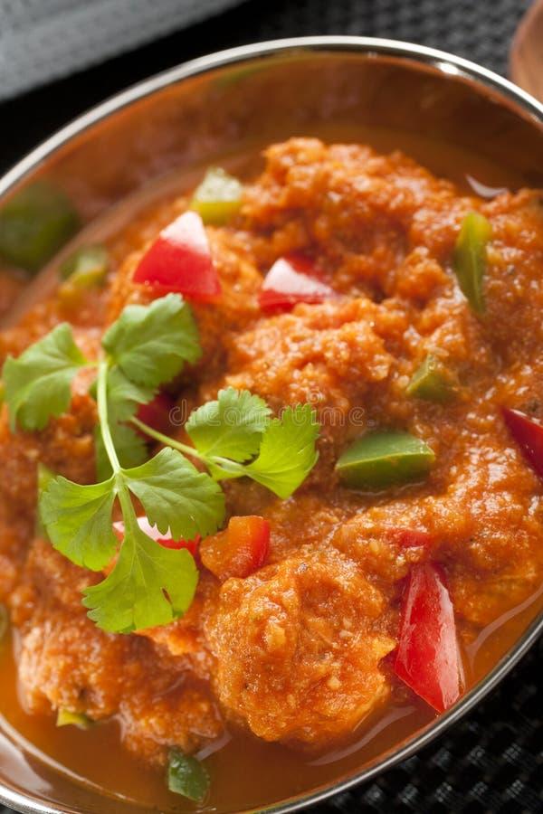 Индийский цыпленок Jalfrezi карри стоковые изображения