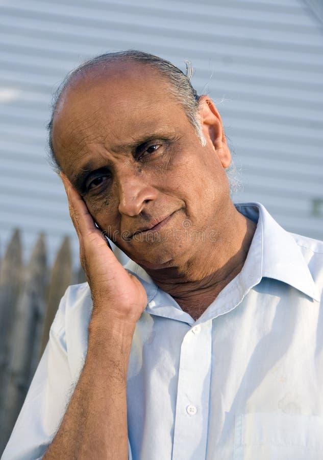 индийский человек старый стоковое фото rf