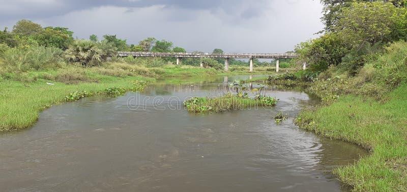 Индийское небольшое река стоковое изображение rf