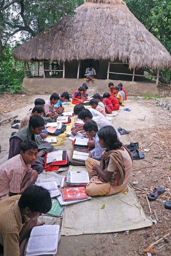 индийское село школы стоковая фотография rf