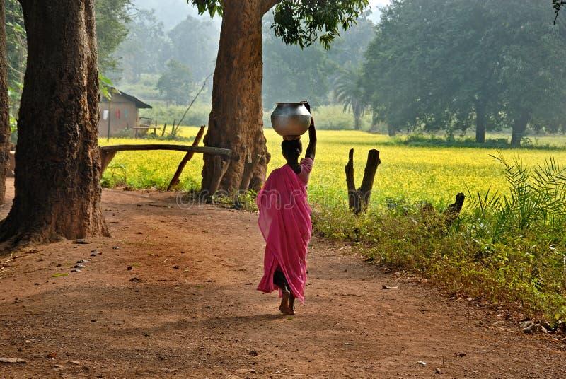 индийское село стоковая фотография