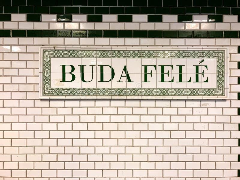 Индикатор метро Будапешта стоковое фото rf