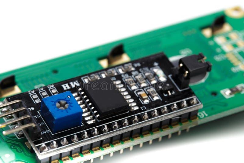 Индикатор LCD изолированный на белой предпосылке стоковое фото rf