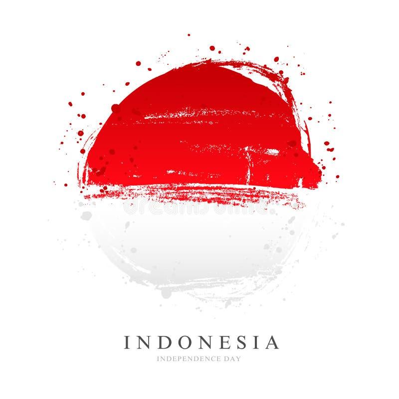 Индонезийский флаг в форме большого круга иллюстрация штока