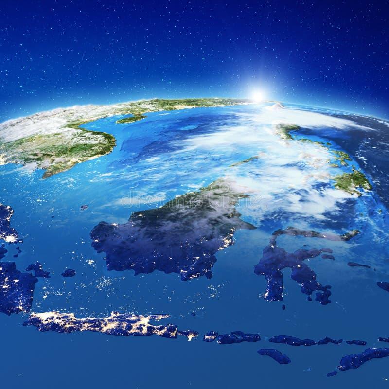 Индонезия от космоса стоковое фото rf