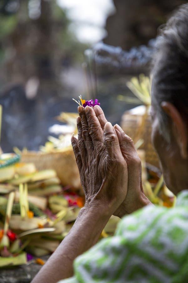 Индуизм молитве стоковое изображение rf