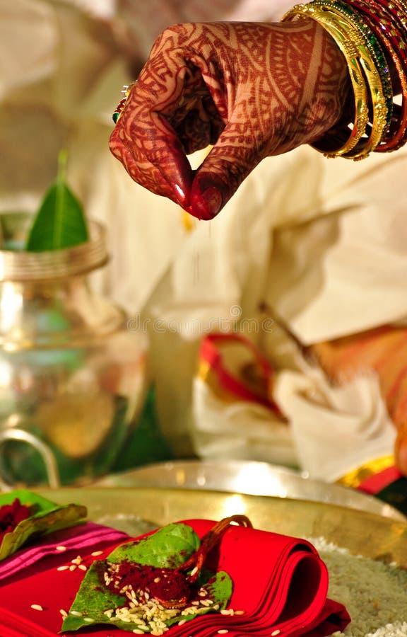 индусское ритуальное венчание стоковое изображение