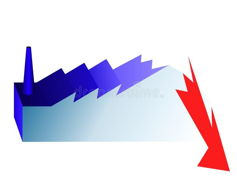 индустрия кризиса иллюстрация вектора