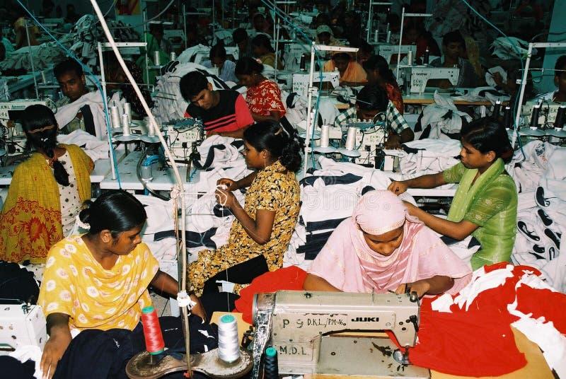 Индустрия одежд в Бангладеше стоковая фотография rf