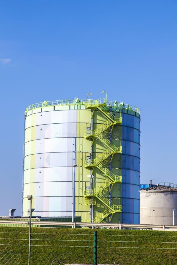 индустрия frankfurt около силосохранилища парка стоковое фото rf