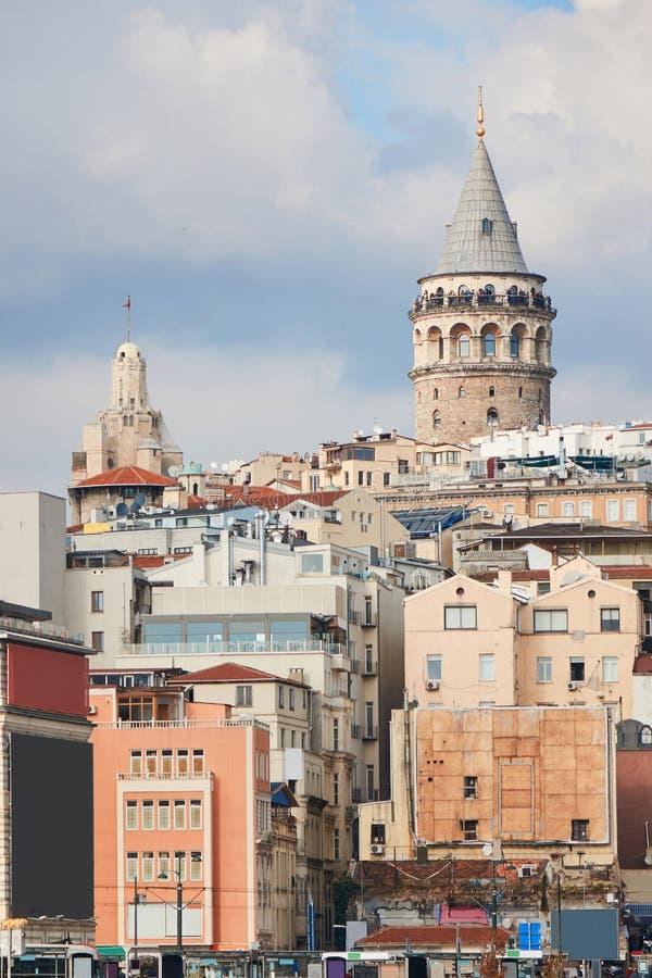 индюк башни istanbul galata стоковые фотографии rf