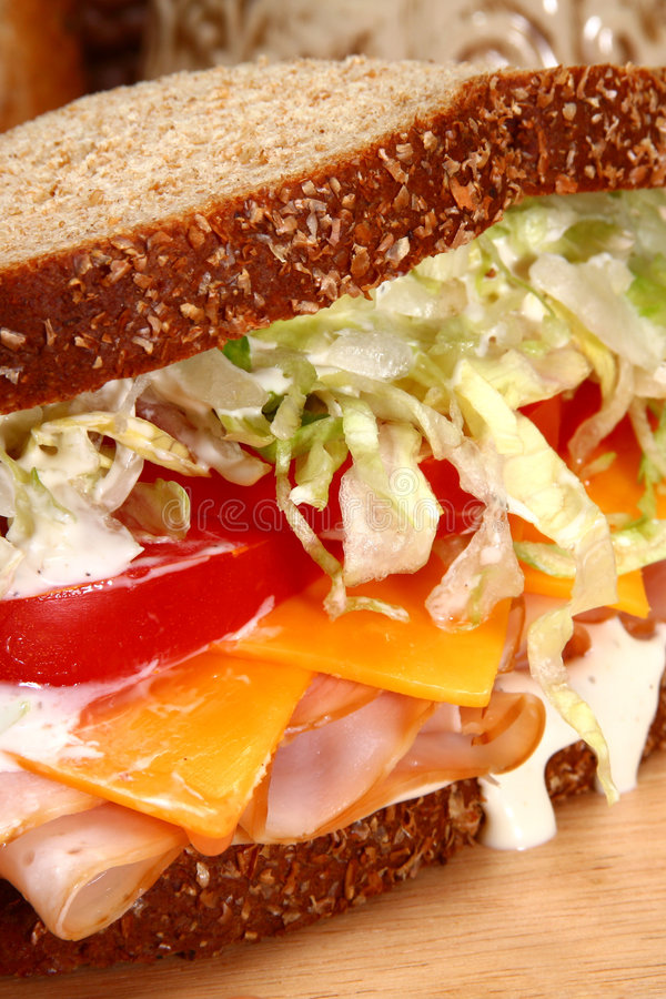 индюк сандвича стоковое фото rf