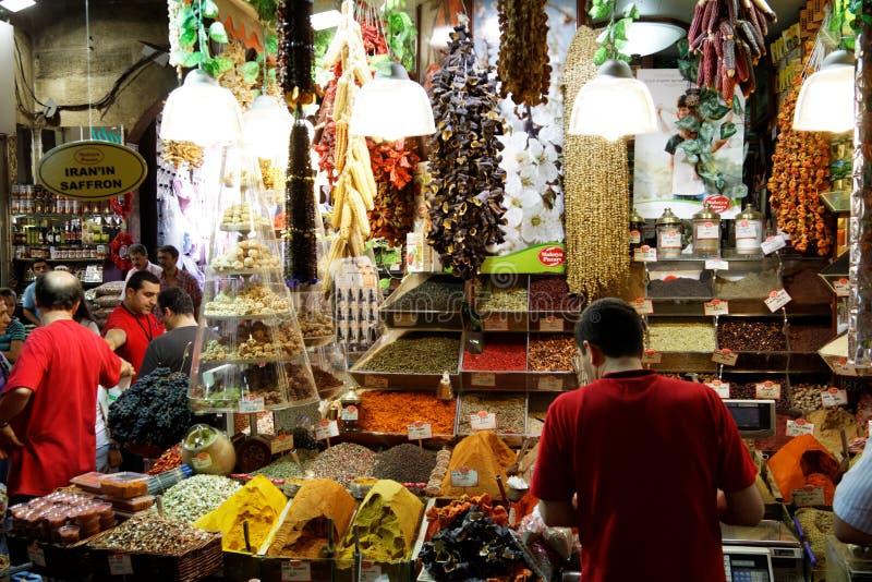 индюк специи istanbul базара египетский стоковое изображение