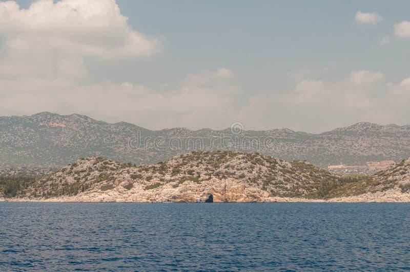 индюк среднеземноморская coastExcursion-Demre-Мира, Kekova стоковая фотография rf