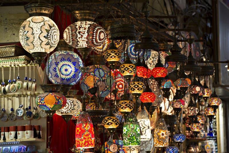 индюк фонариков istanbul базара грандиозный вися стоковое изображение rf