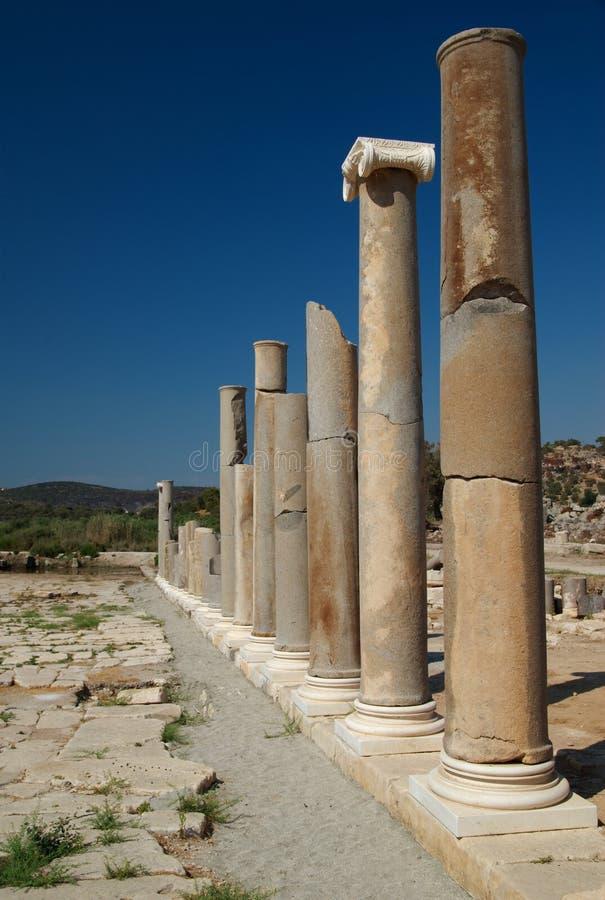 индюк patara колоннады стоковые изображения rf