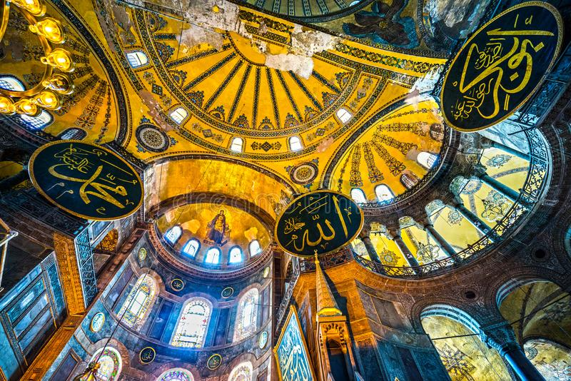 индюк sophia мечети istanbul hagia стоковые фотографии rf